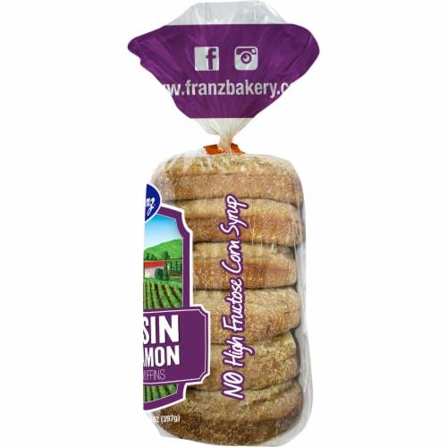 Franz Double Raisin Cinnamon English Muffins Perspective: right