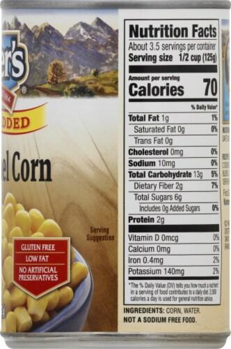 Kuner's No Salt Added Whole Kernel Corn Perspective: right