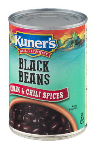 Kuner's Southwest Cumin and Chili Spices Black Beans Perspective: right