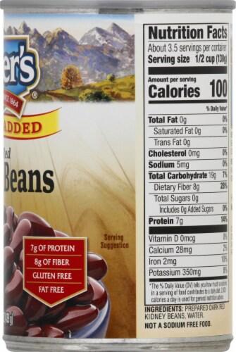 Kuner's No Salt Added Dark Red Kidney Beans Perspective: right