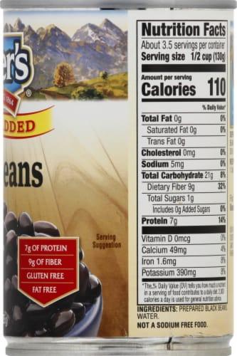 Kuner's No Salt Added Black Beans Perspective: right