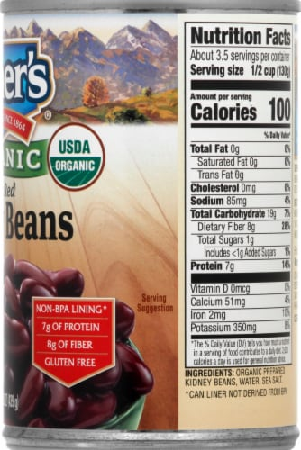 Kuner's Organic Red Kidney Beans Perspective: right
