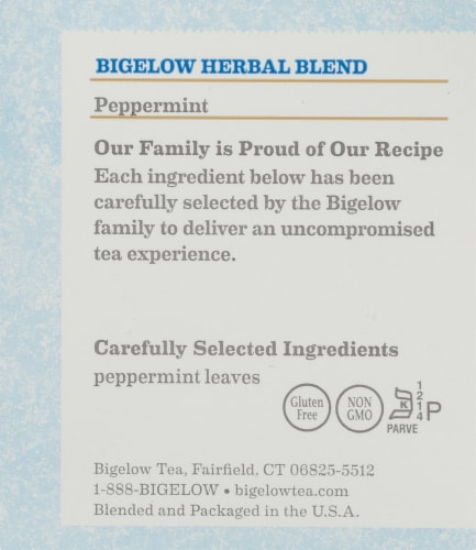 Bigelow Peppermint Herbal Tea Bags Perspective: right