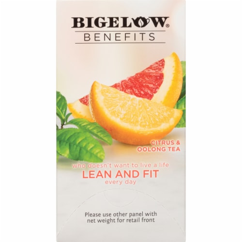 Bigelow Benefits Lean and Fit Citrus & Oolong Tea Bags Perspective: right