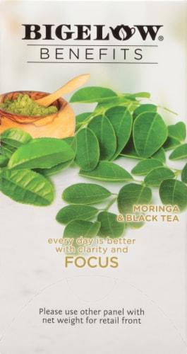 Bigelow Benefits Focus Moringa and Black Tea Bags Perspective: right