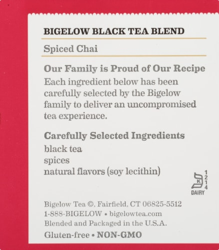 Bigelow Spiced Chai Black Tea Perspective: right