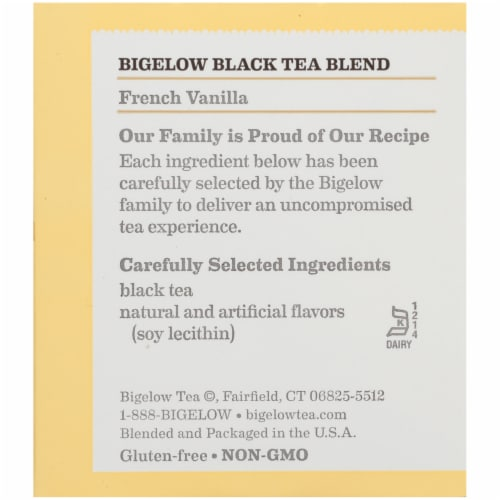 Bigelow French Vanilla Black Tea Perspective: right