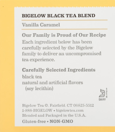 Bigelow Vanilla Caramel Black Tea Perspective: right