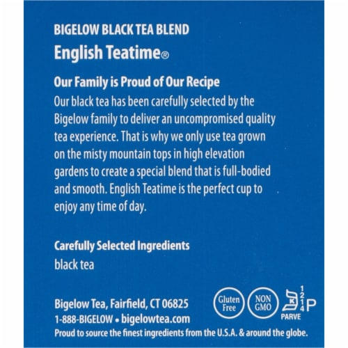 Bigelow English Teatime Black Tea Perspective: right