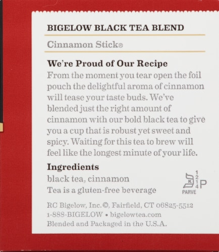 Bigelow Cinnamon Stick Black Tea Perspective: right