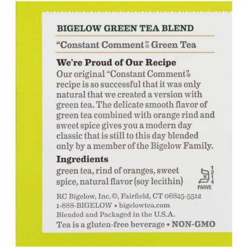 Bigelow Constant Comment Green Tea Bags Perspective: right
