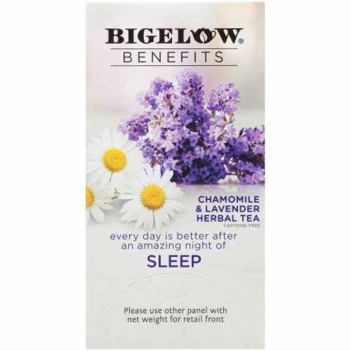 Bigelow Benefits Sleep Chamomile & Lavender Herbal Tea Bags Perspective: right
