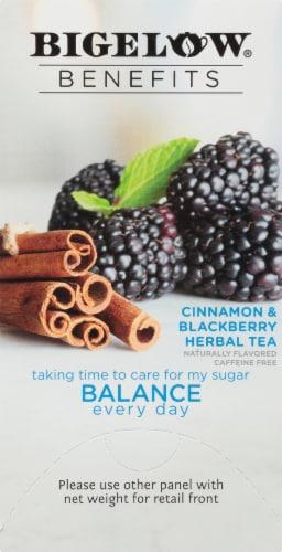 Bigelow Benefits Cinnamon & Blackberry Herbal Tea Bags Perspective: right