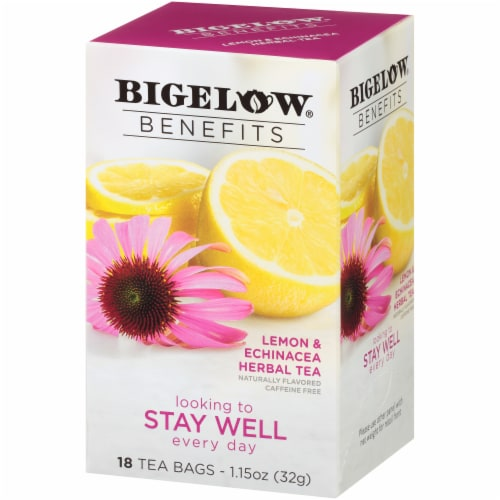 Bigelow Benefits Stay Well Lemon & Echinacea Herbal Tea Bags Perspective: right