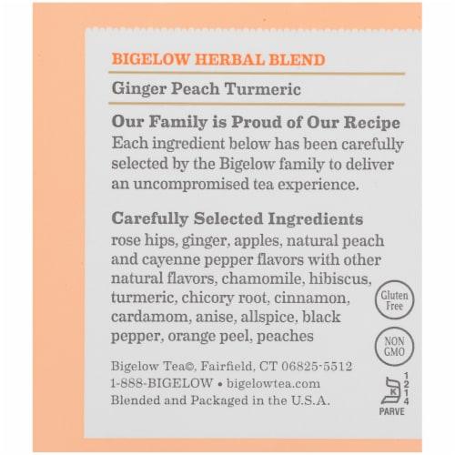 Bigelow Ginger Peach Turmeric Herbal Tea Bags Perspective: right