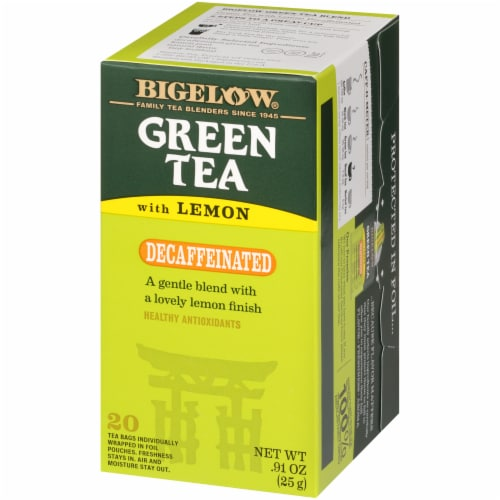 Bigelow Decaffeinated Green Tea with Lemon Bags Perspective: right
