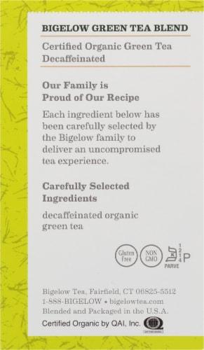Bigelow Organic Decaffeinated Green Tea Perspective: right