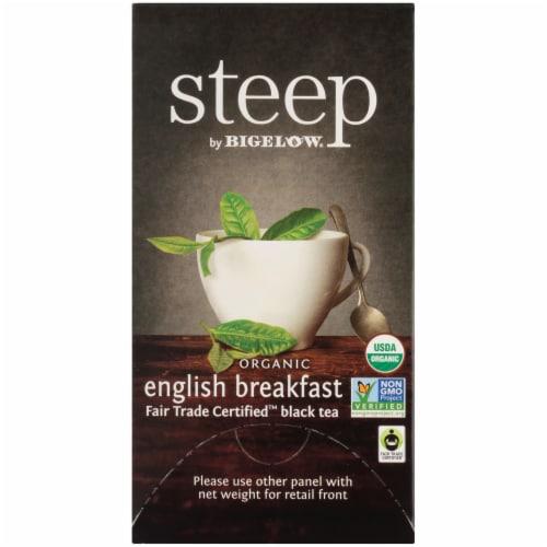 Bigelow Steep Organic English Breakfast Black Tea Perspective: right