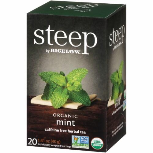 Bigelow Steep Organic Mint Herbal Tea Perspective: right