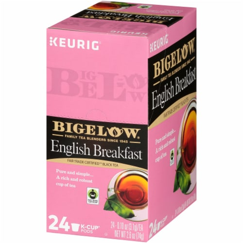 Bigelow  English Breakfast Fair Trade Certified Black Tea K-Cup Pods 24 Count Perspective: right