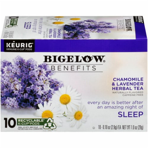 Bigelow Benefits Chamomile & Lavender Herbal Tea K-Cup Pods 10 Count Perspective: right