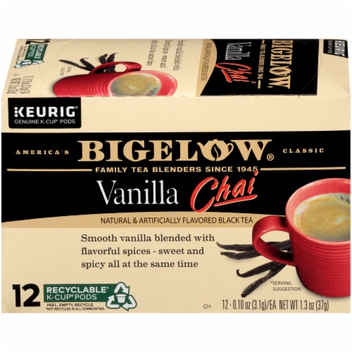 Bigelow Vanilla Chai Black Tea K-Cup Pods Perspective: right