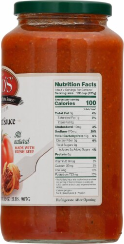 Mid's Meat Homestyle Pasta Sauce Perspective: right