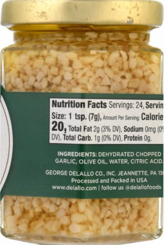 DeLallo Fine Chopped Garlic Perspective: right