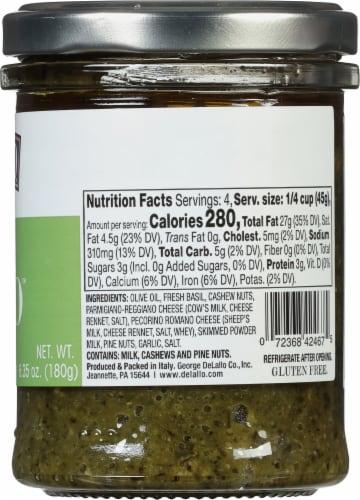 Delallo Simply Pesto Traditional Basil Pesto Sauce Perspective: right