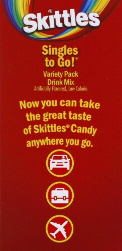 Skittles Zero Sugar Drink Mix Variety Pack Perspective: right