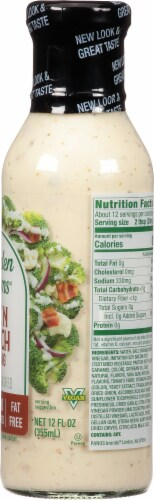 Walden Farms Bacon Ranch Salad Dressing Perspective: right