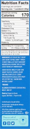 Alden's Organic Vanilla Bean Ice Cream Sandwiches Perspective: right