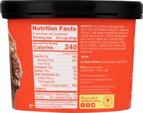 Alden's Organic Peanut Butter Fudge Ice Cream Perspective: right