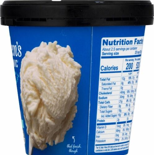 Alden's Organic Vanilla Creme Ice Cream Perspective: right