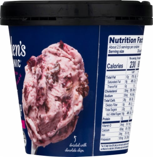 Alden's Organic Midnight Cherry Chip Ice Cream Perspective: right