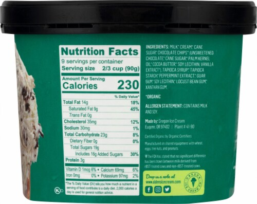 Alden's Organic Mint Chip Ice Cream Perspective: right