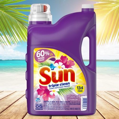 Sun Triple Clean Tropical Breeze Liquid Laundry Detergent Perspective: right