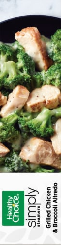 Healthy Choice Simply Steamers Grilled Chicken & Broccoli Alfredo Frozen Meal Perspective: right