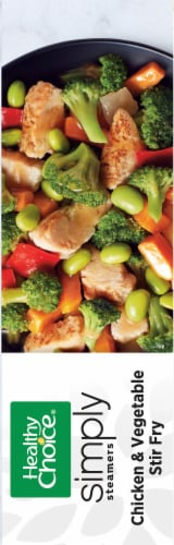 Healthy Choice Cafe Steamers Simply Chicken & Vegetable Stir Fry Frozen Meal Perspective: right