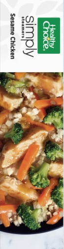 Healthy Choice Simply Steamers Sesame Chicken Frozen Meal Perspective: right