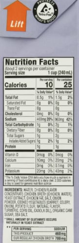 Manischewitz Reduced Sodium Chicken Broth Perspective: right