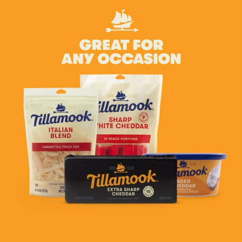 Tillamook Special Reserve Extra Sharp Cheddar Cheese Baby Loaf Perspective: right
