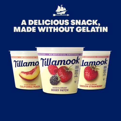 Tillamook Oregon Strawberry Lowfat Yogurt Perspective: right