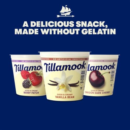 Tillamook Good & Creamy Oregon Dark Cherry Lowfat Yogurt Perspective: right