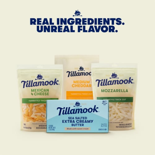 Tillamook Extra Creamy Salted Butter Sticks Perspective: right