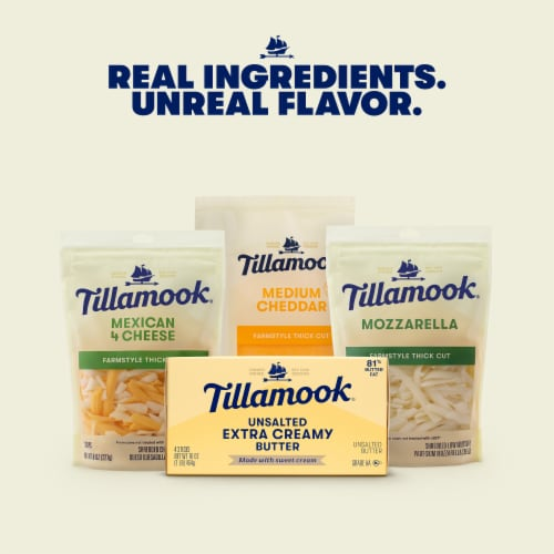 Tillamook Extra Creamy Unsalted Butter Sticks Perspective: right