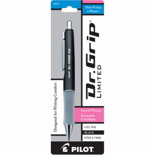 Pilot Dr. Grip Limited Fine Point Retractable Gel Roller Ball Pen - Black Perspective: right