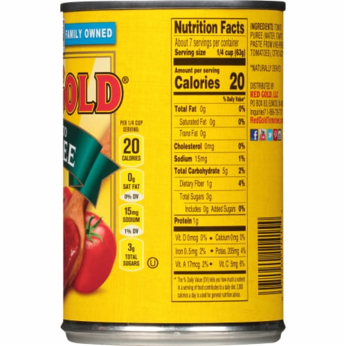 Red Gold Tomato Puree Perspective: right
