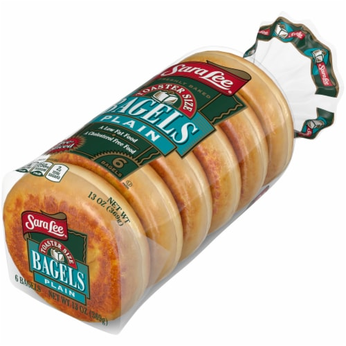Sara Lee Toaster Size Plain Bagels 6 Count Perspective: right
