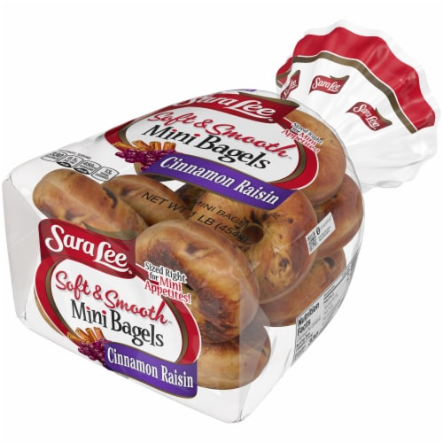 Sara Lee Soft & Smooth Cinnamon Raisin Mini Bagels Perspective: right